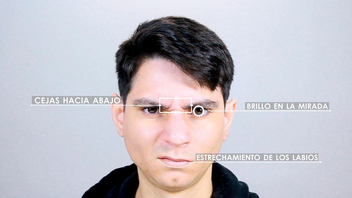 Expresión facial de la ira
